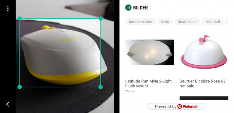 Bixby Vision erkennt Dinge, die zumindest so ähnlich aussehen wie meine Maus