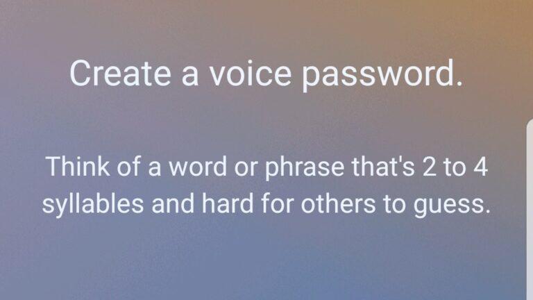 Bixby lässt den Nutzer ein Sprachpasswort erstellen. Na, ob das eine gute Idee ist?