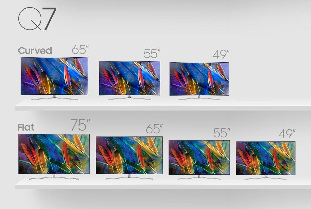 Samsungs Q7-Serie bietet die einfacheren QLED-Fernseher.(Bild: Samsung)
