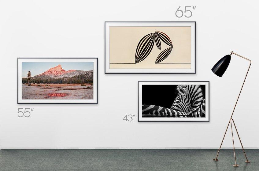 The Frame von Samsung zeigt Kunstwerke an, wenn kein Fernsehen geschaut wird (Bild: Samsung)