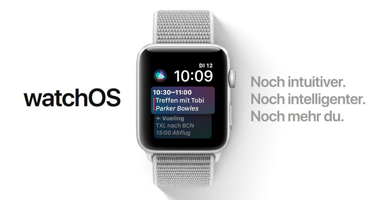 Watch OS 4 mit Siri Watch Face (Screenshot von apple.com)
