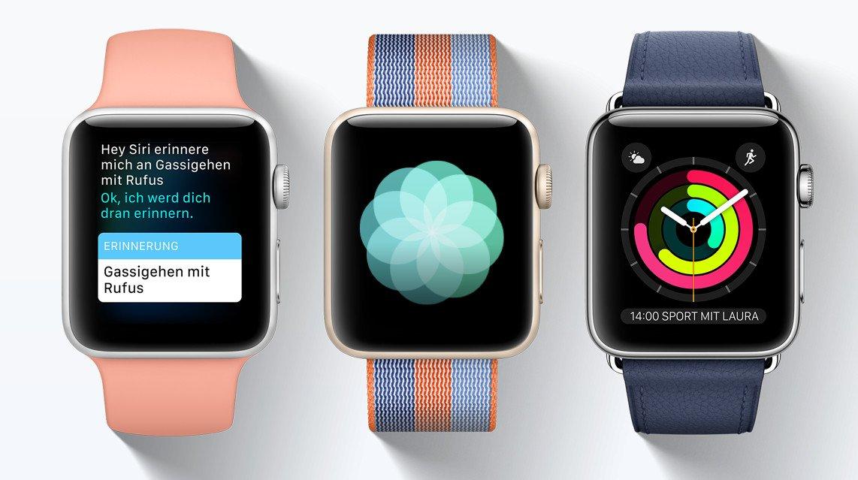 Nicht nur die Armbänder machen den Unterschied, auch Watch OS sorgt dafür (Bild: Apple)