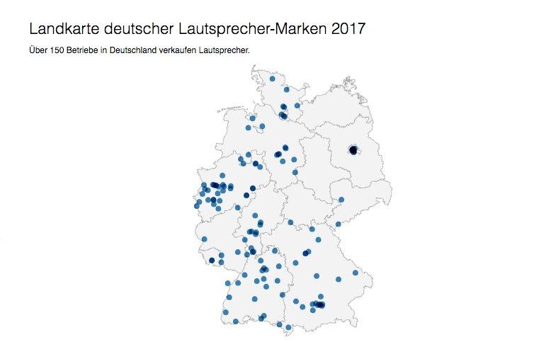 Interaktive Karte: 150 deutsche Lautsprecher-Marken und wo ihr sie findet