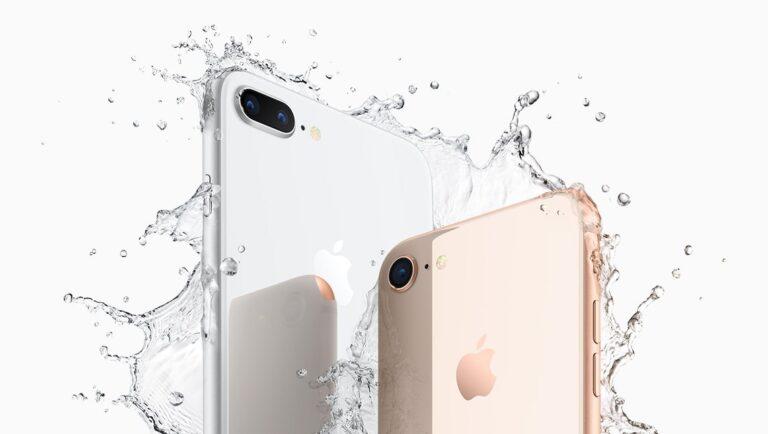 Die neuen Apple-Handys iPhone 8 Plus (links) und iPhone 8 haben eine Rückseite aus Glas erhalten, um induktiv geladen werden zu können (Bild: Apple)