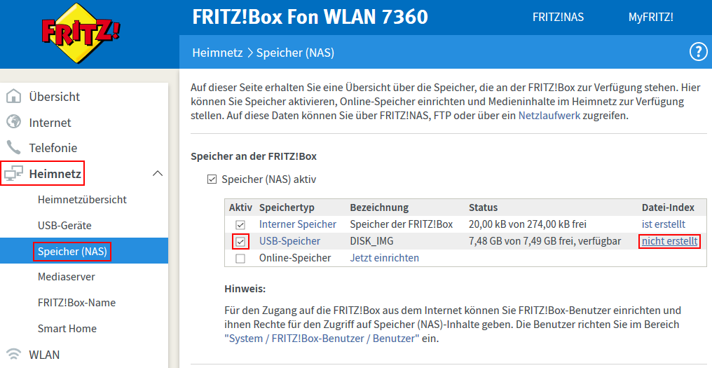 So erstellt ihr einen Index für den Mediaserver der Fritzbox (Screenshot: Peter Giesecke)