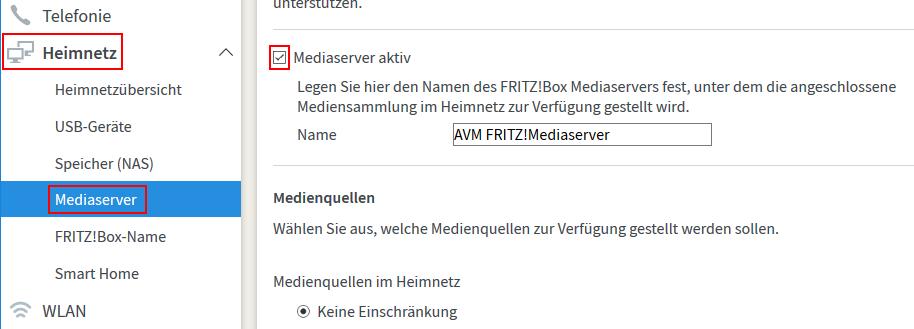 So richtet ihr einen Mediaserver in eurer Fritzbox ein (Screenshot: Peter Giesecke)