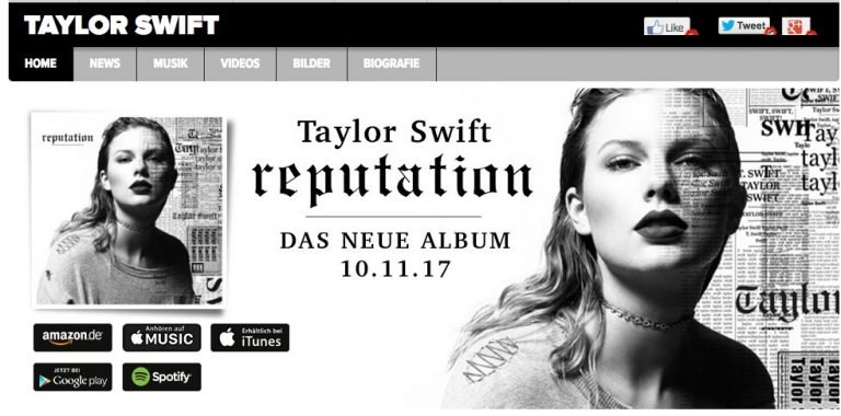 Popsternchen Taylor Swift: Früher lag sie im Clinch mit Streaming-Diensten, ihr neues Album wird es aber auch auf Spotify geben. Screenshot: Euronics Trendblog