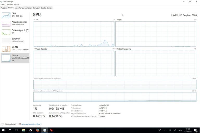 Mit GPU-Anzeige - der Taskmanager. (Foto: Screenshot)