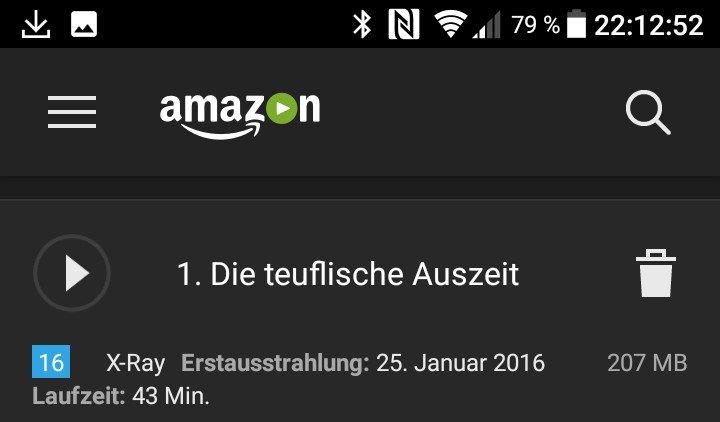 Heruntergeladene Folgen lassen sich jederzeit löschen. Amazon Prime Video löscht aber auch automatisch, wenn die Fristen ablaufen (Screenshot: Peter Giesecke)