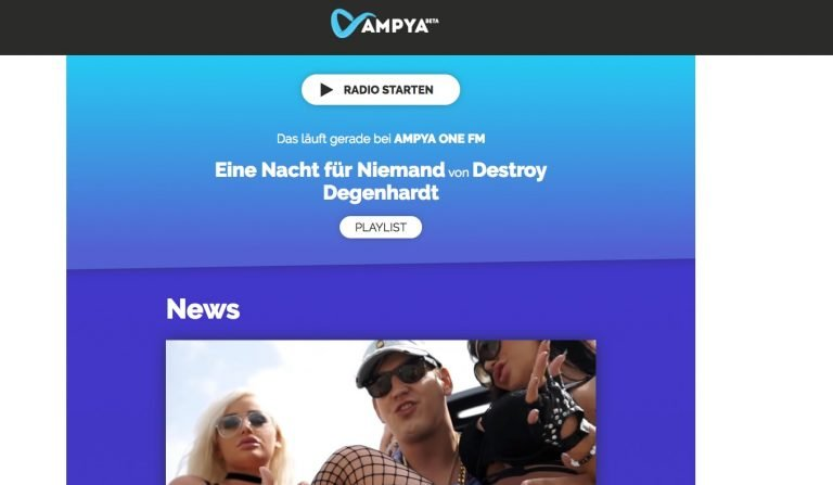 Ampya: Einstiger Musikstreaming-Service ist heute ein Webradio.