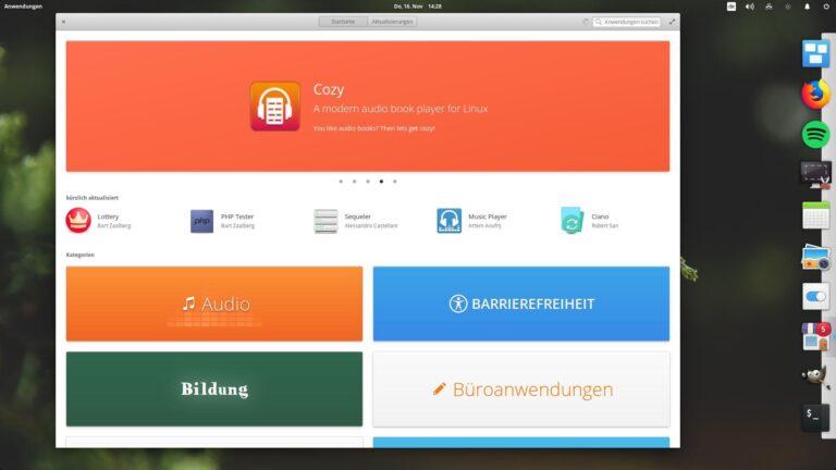 Einen eigenen App Store bringt Elementary Linux gleich mit.