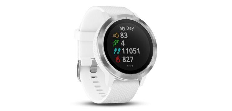 Die GPS Smartwatch Garmin vívoactive 3 ist auch in der Farbe Weiß erhältlich