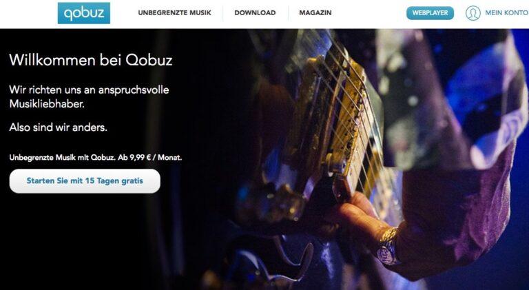 Qobuz: Musikstreaming mit angeschlossenem Shop für High-Res-Music