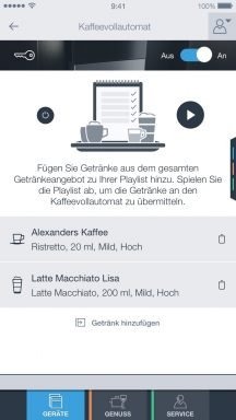 Bildergebnis für coffee playlist app homeconnect
