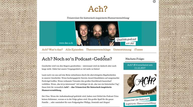 Podcast-Empfehlung Ach