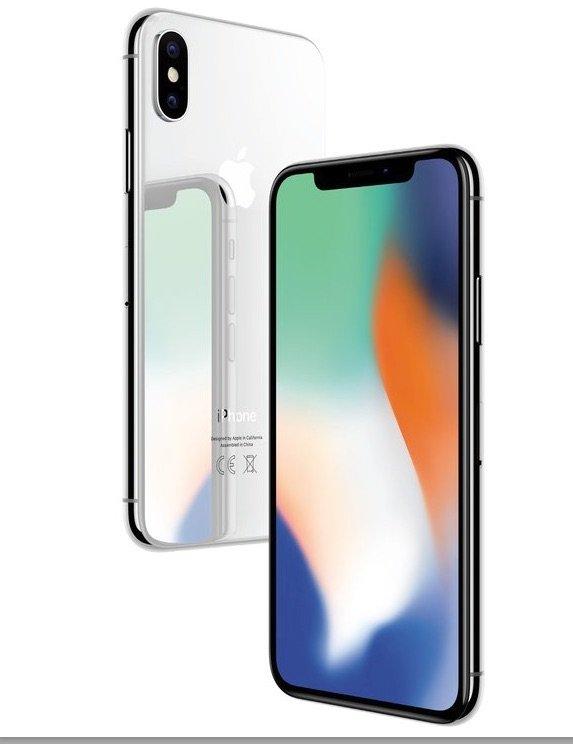 Das iPhone X mit Kerbe, auch Notch genannt. (Foto: Apple)