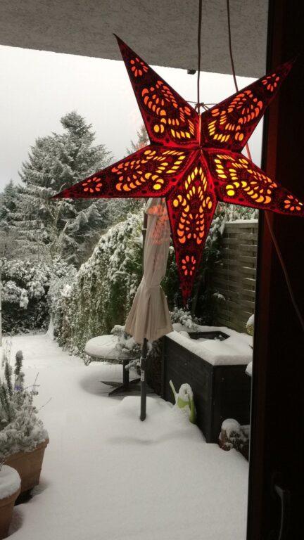 Schneefall passend zum Heizungsausfall