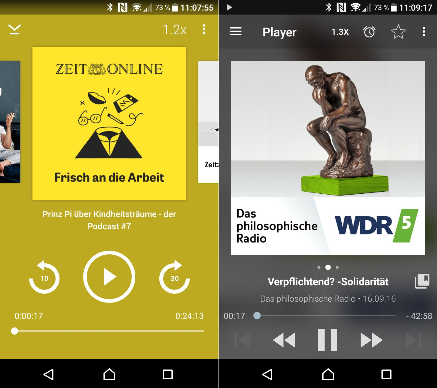 Podcast-Apps Podcast Player und Podcast Addict
