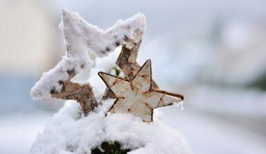 Weihnachten Schnee Stern