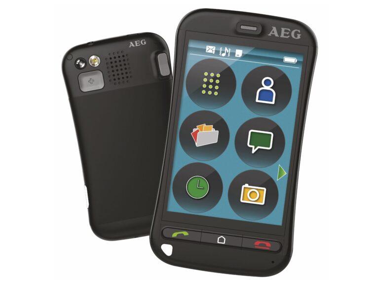 Ein echtes Senioren-Smartphone wie das AEG Voxtel M800 sollte es wirklich nicht werden. (Foto: AEG)