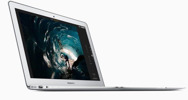 Optisch kaum weiterentwickelt: Auch das neueste MacBook Air sieht im Wesen noch so aus wie das erste Modell. Bild: Apple