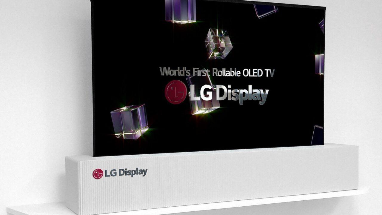 OLED statt Leinwand: Aufrollbarer 65-Zoll-Fernseher von LG
