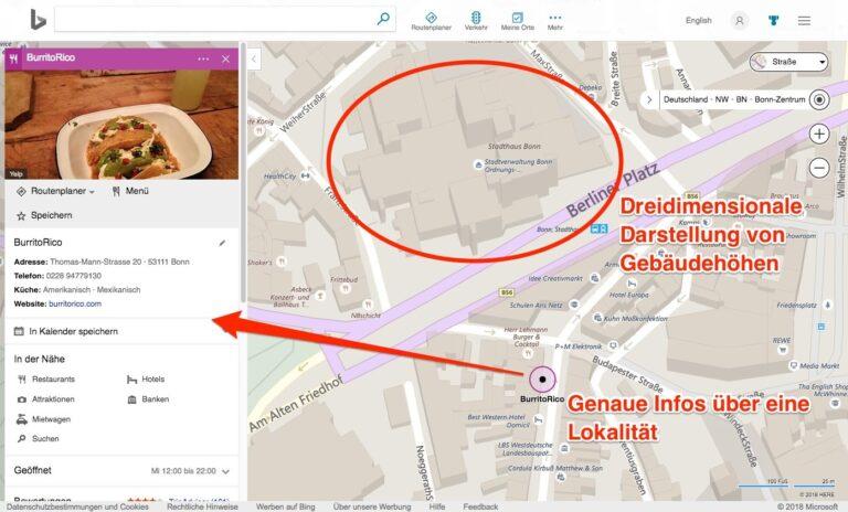 Bing Maps Karten Stadtkarte