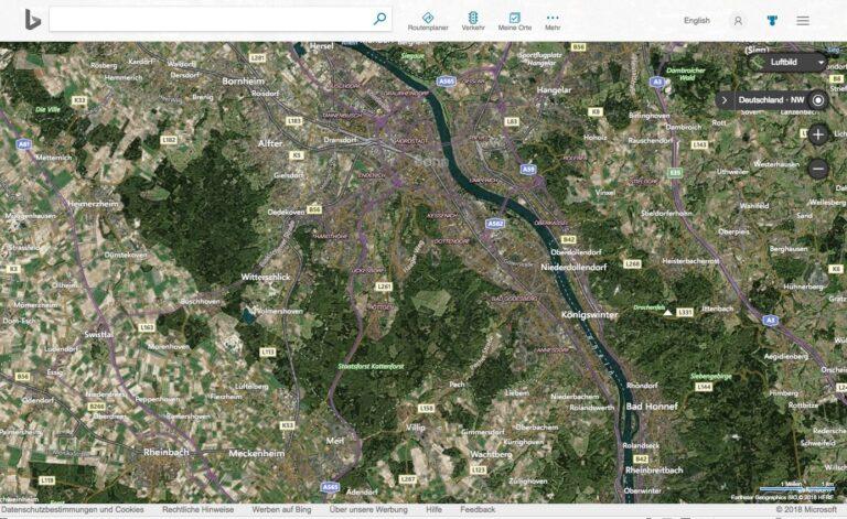 Bing Maps Karten Luftbild Satellitenbilder