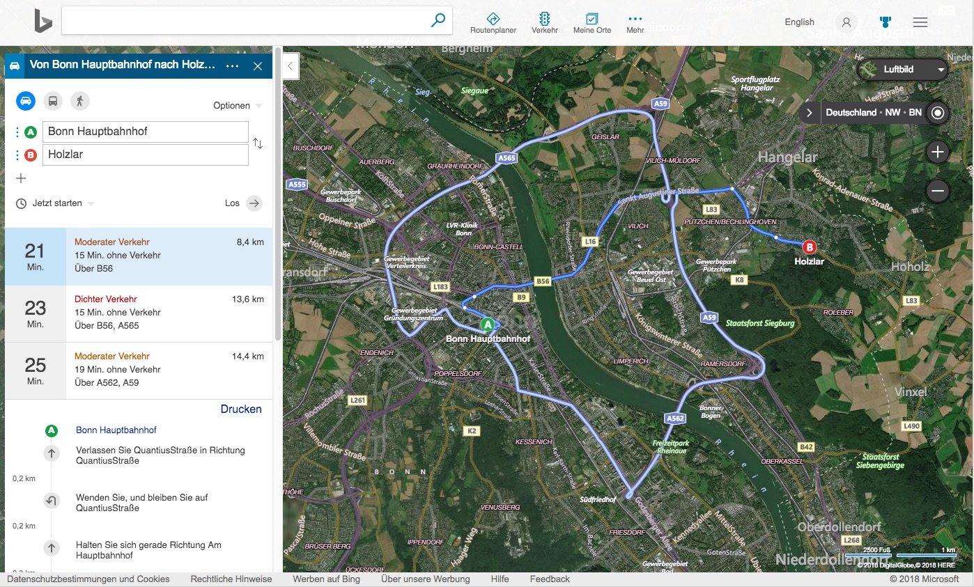 Bing Maps: Das alles kann Microsofts Google Maps-Alternative