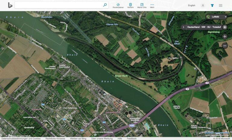 Bing Maps Karten Stadtkarte Luftbild