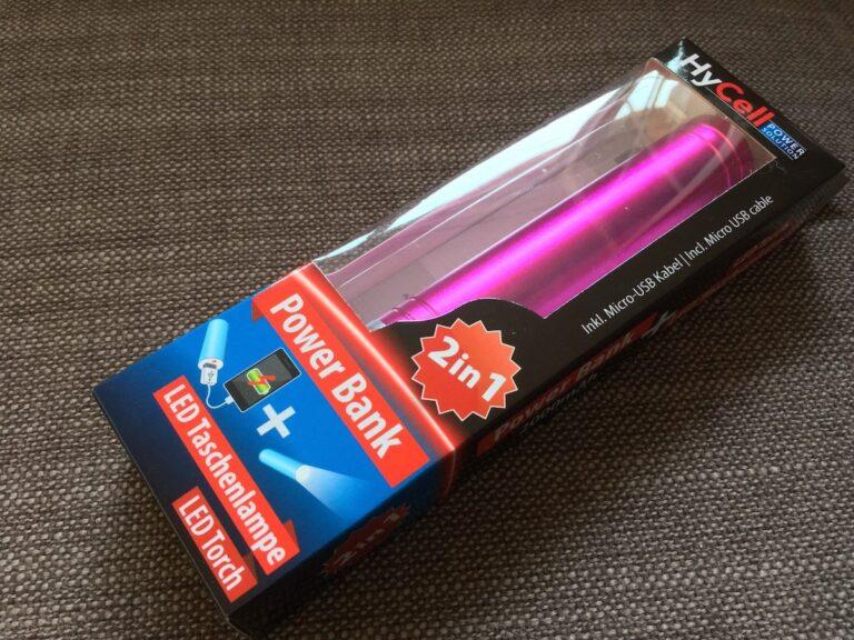 HyCell Powerbank mit Taschenlampen-Funktion