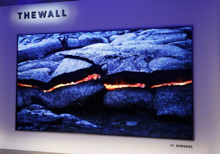 The Wall: 8K-Fernseher mit wandfüllenden Maßen von 3,30 mal 2,10 Metern (Bild: Samsung)