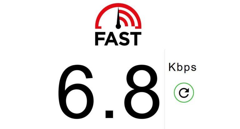 Jetzt den Internet-Provider anrufen? Viele warten einfach ab, bis es wieder etwas schneller ist. (Screenshot von fast.com)