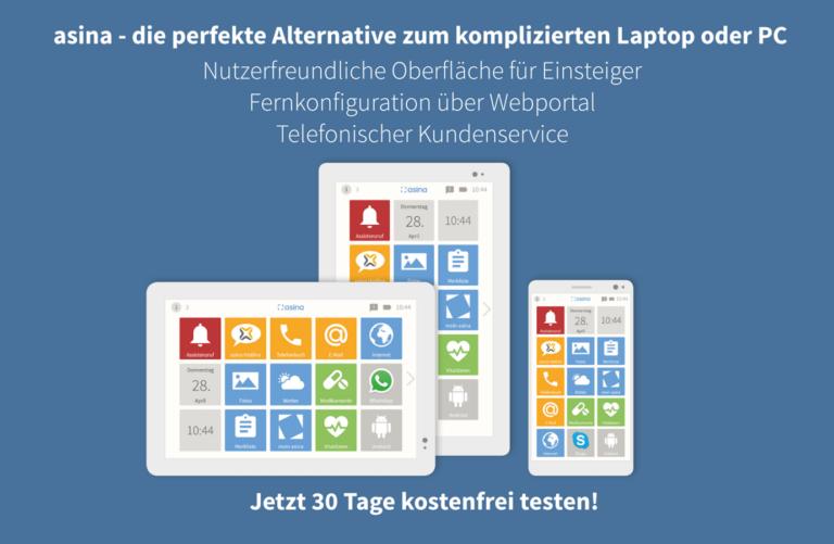 Asina funktioniert auf Tablets und Smartphones. (Foto: exelonix GmbH)