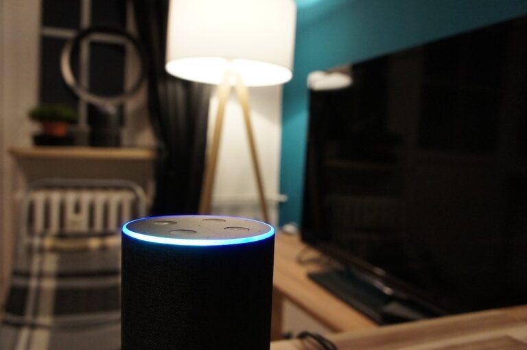 Amazon Echo mit Alexa in meinem Wohnzimmer.