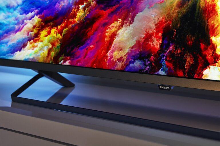 Schick, bunt – und wie heißt er denn nun? Philips TV-Gerät mit den Endziffern 7303. Bild: Philips