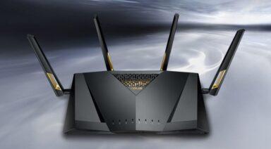 Der Asus-RT-AX88U wird einer der ersten WLAN-Router sein, der WLAN IEEE 802.11 ax unterstützt (Bild: Asus)