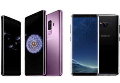 Galaxy S8 und Galaxy S9 sind auch optisch noch sehr attraktiv.