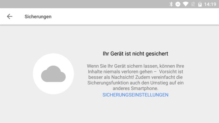Google Drive Android-Backup Sicherungen