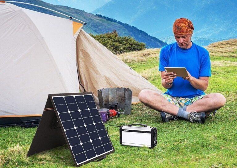 Suaoki-PowerStation-Solarlader-Camping-Bergpanorama