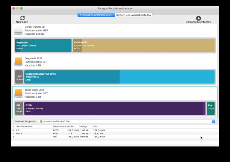 Verschiedene Dateisysteme auf unterschiedlichen Datenträgern