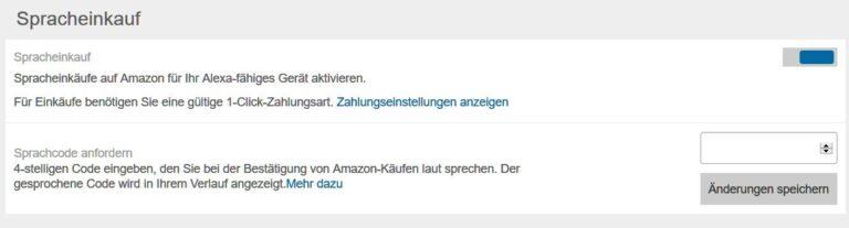 Spracheinkauf? Zur Sicherheit besser deaktivieren. (Foto: Screenshot)