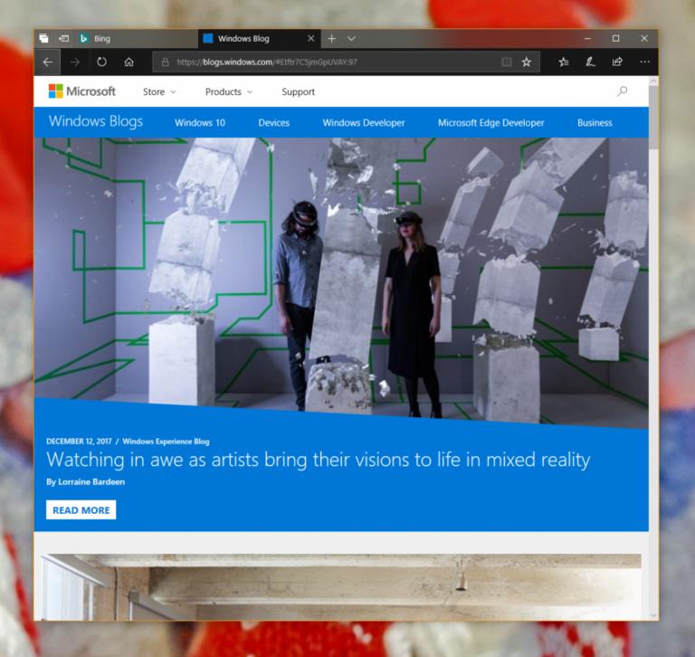 Weitere Optimierungen für den Edge-Browser. (Foto: Microsoft)