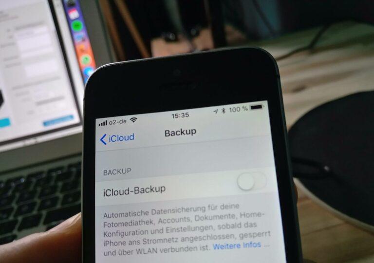 iPhone iCloud-Backup