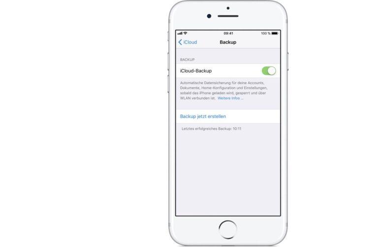 iPhone-Backup über iCloud