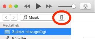 iTunes iPhone Backup-Symbol