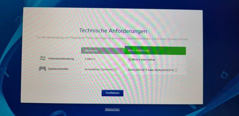 PlayStation Now testet euren Rechner, ob der geeignet ist. (Foto: Sven Wernicke)