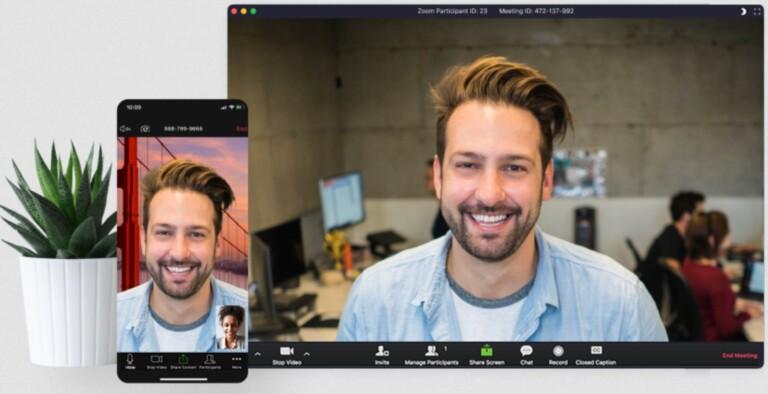 Videokonferenz-App Zoom für ein papierloses Büro zuhause