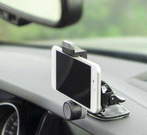 Mit dieser Universal-Halterung wird aus dem Smartphone eine Dashcam. (Foto: 4smarts)