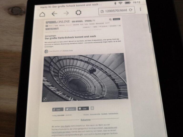 Der Beta-Browser verschenkt Potenzial, schwankt zwischen Desktop- und mobiler Version. Leseansicht ist im Menü vergraben.